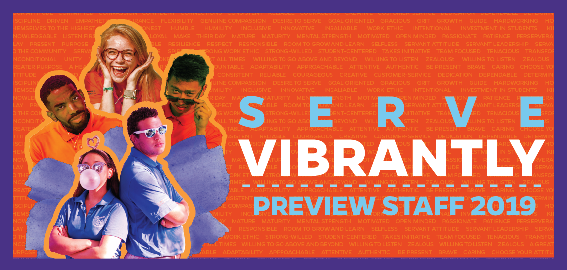 Serve Vibrantly Preview Staff 2019